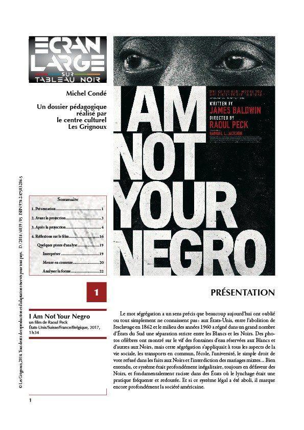 affiche du dossier I Am Not Your Negro