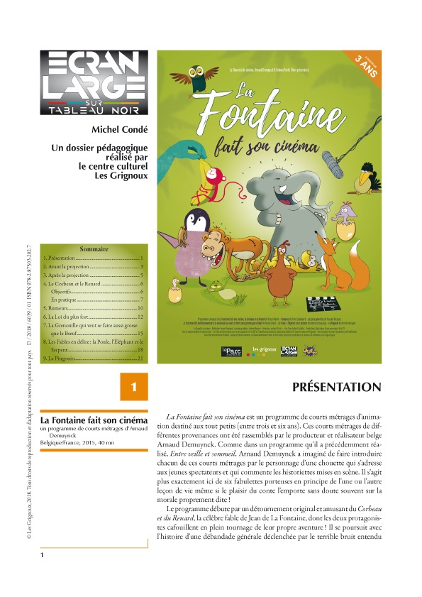 affiche du dossier La Fontaine fait son cinéma