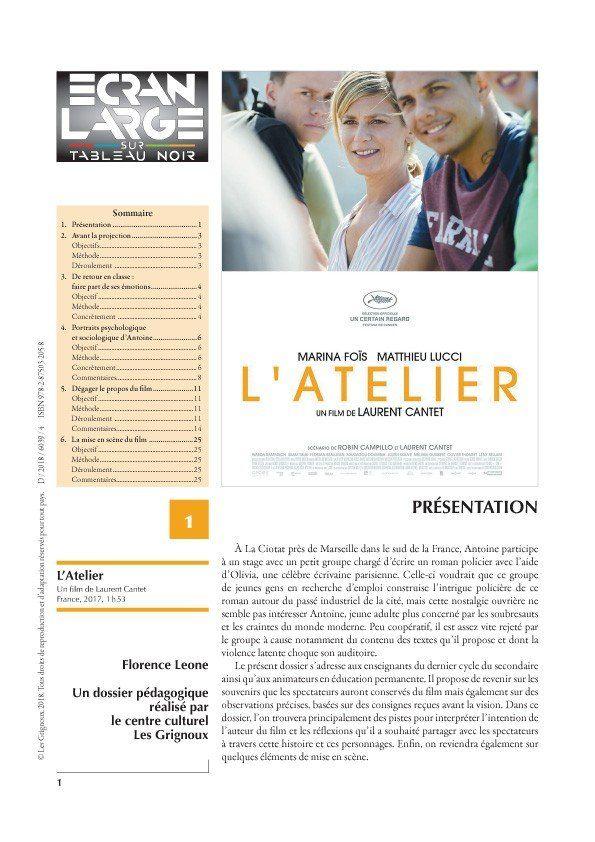 affiche du dossier L'Atelier