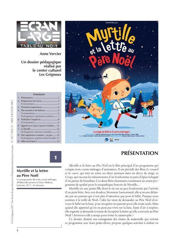 affiche du dossier Myrtille et la lettre au Père Noël