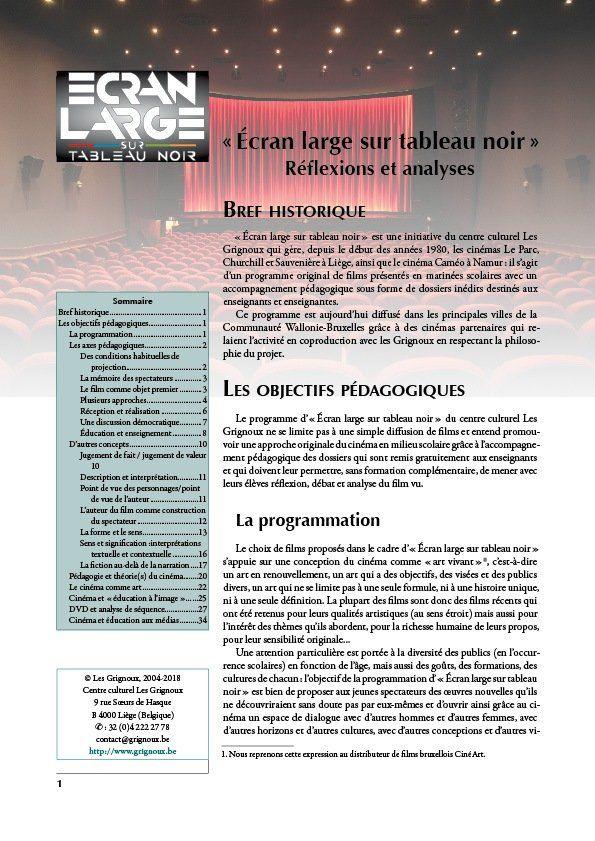 affiche du dossier Ecran large sur tableau noir : réflexions et analyses