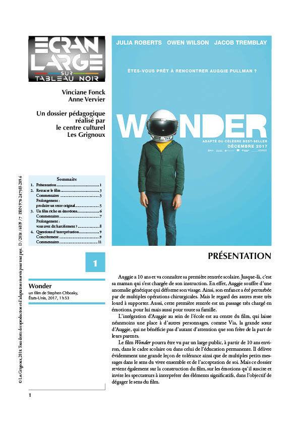 affiche du dossier Wonder