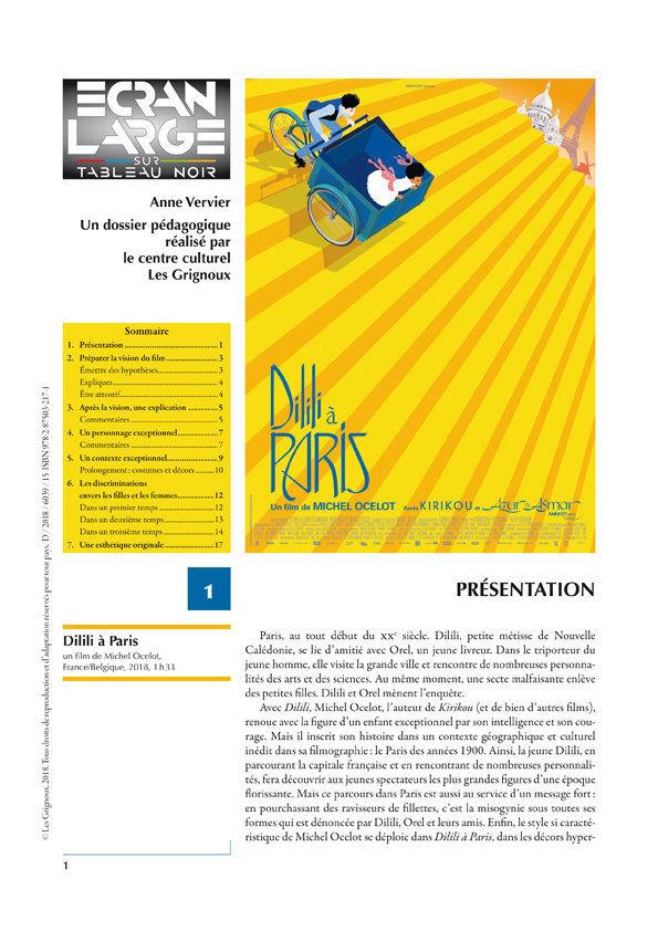affiche du dossier Dilili à Paris
