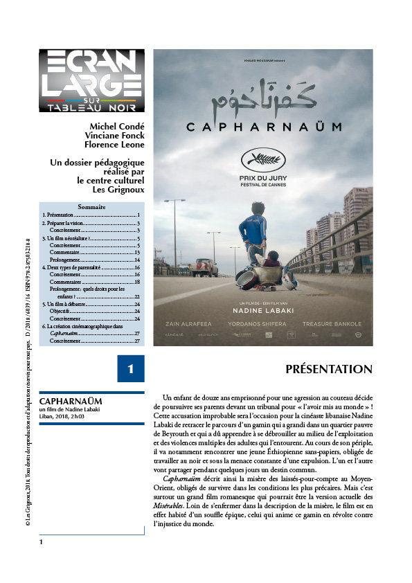 affiche du dossier Capharnaüm