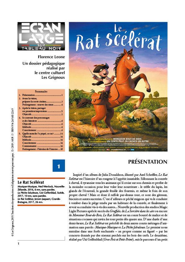 affiche du dossier Le Rat scélérat