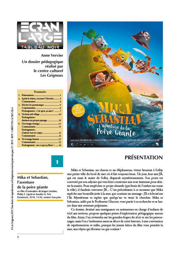 affiche du dossier Mika & Sebastian, l'aventure de la poire géante