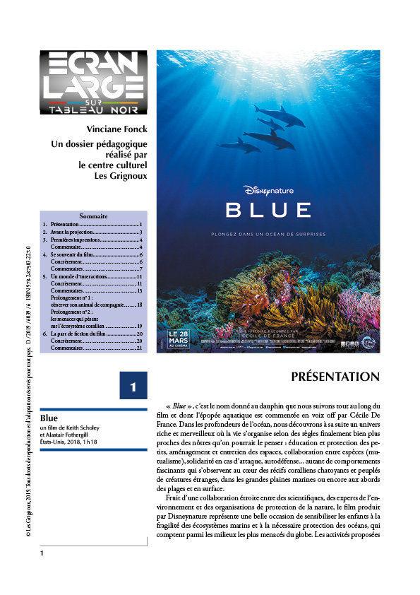 affiche du dossier Blue