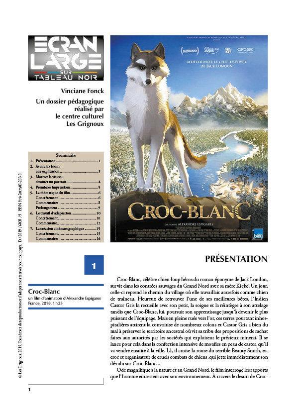 affiche du dossier Croc-blanc