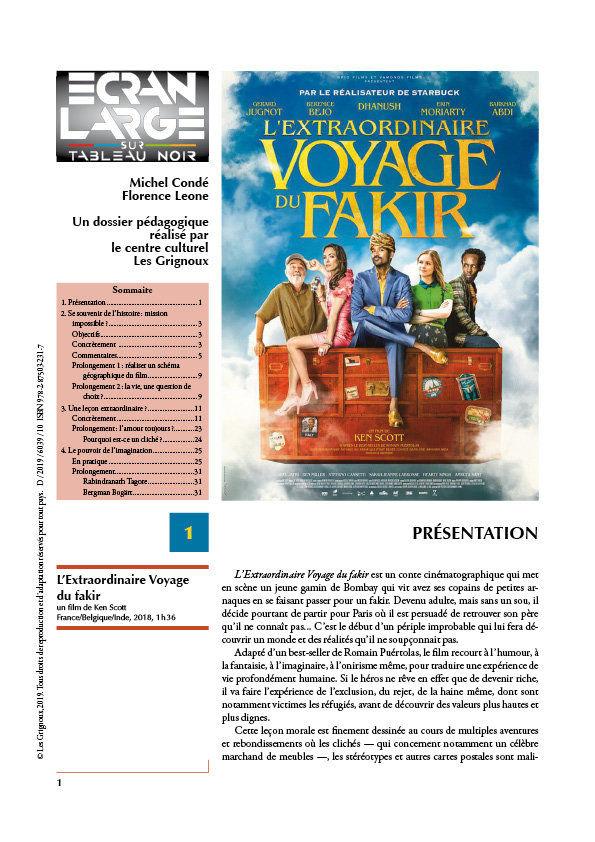 affiche du dossier L'Extraordinaire Voyage du Fakir