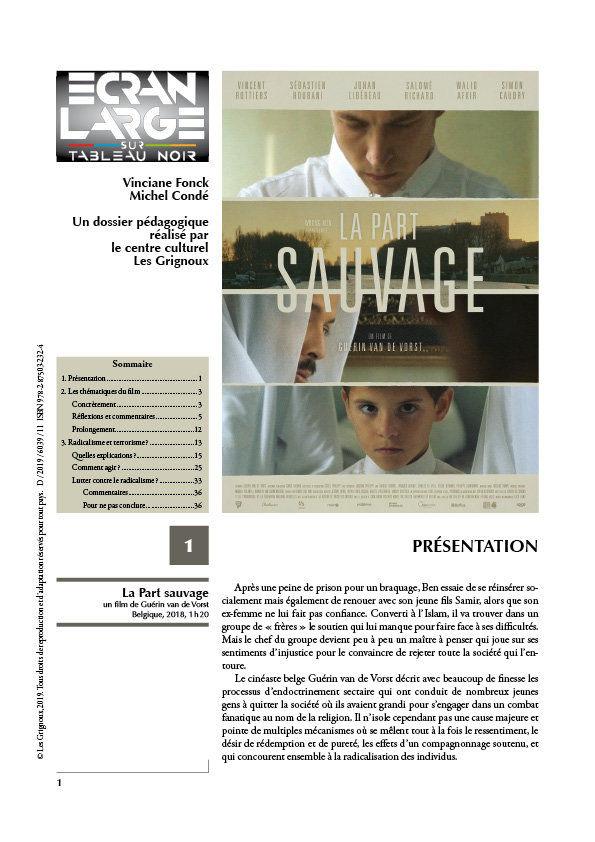 affiche du dossier La Part sauvage
