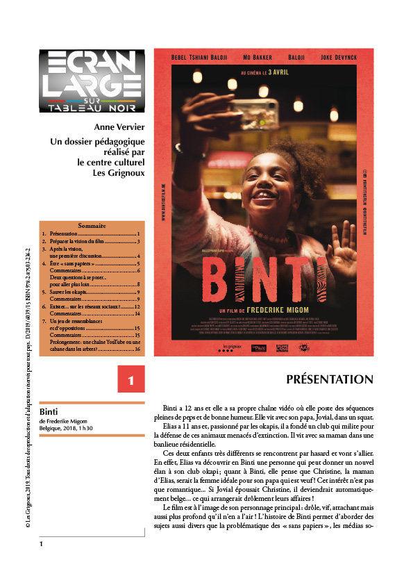 affiche du dossier Binti