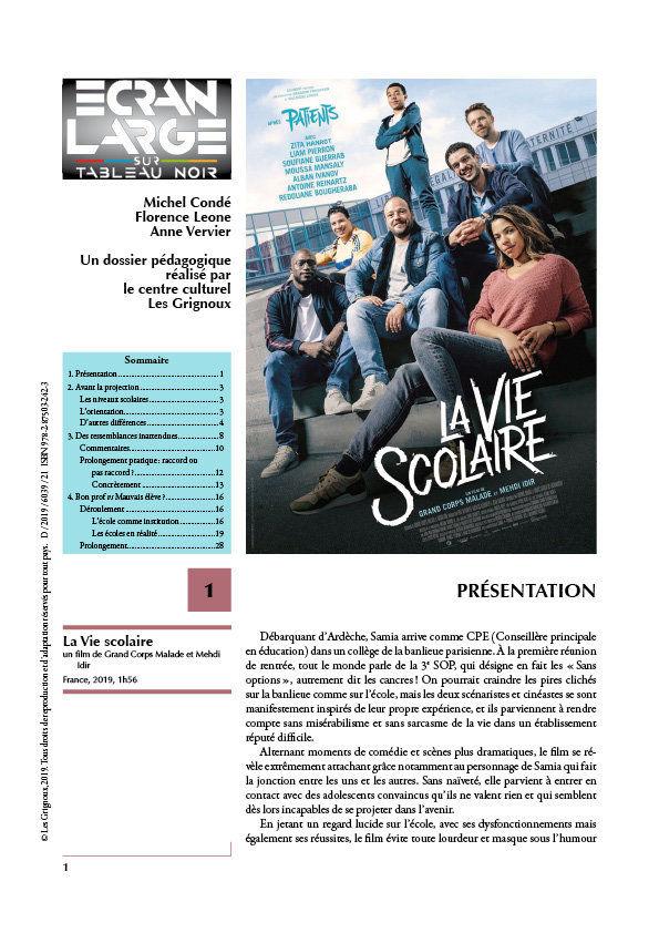 affiche du dossier La Vie scolaire