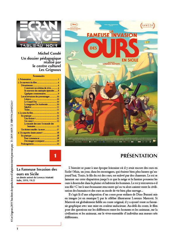 affiche du dossier La Fameuse Invasion des ours en Sicile