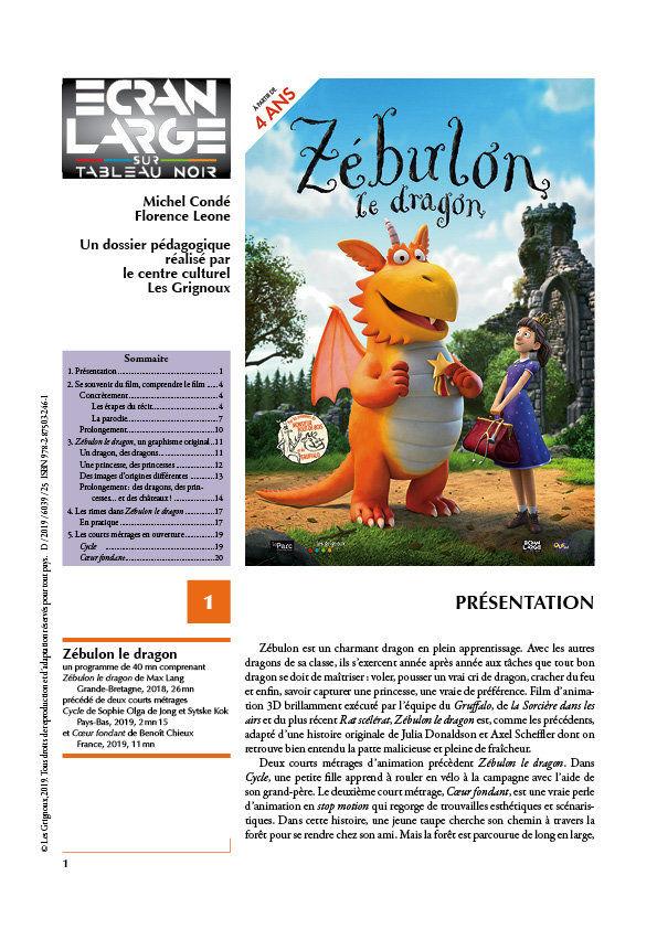 affiche du dossier Zébulon le dragon