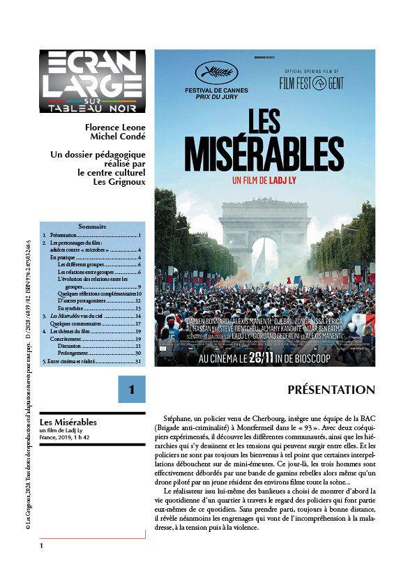 affiche du dossier Les Misérables