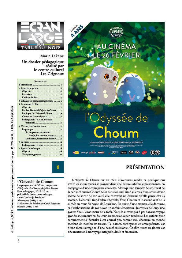 affiche du dossier L'Odyssée de Choum