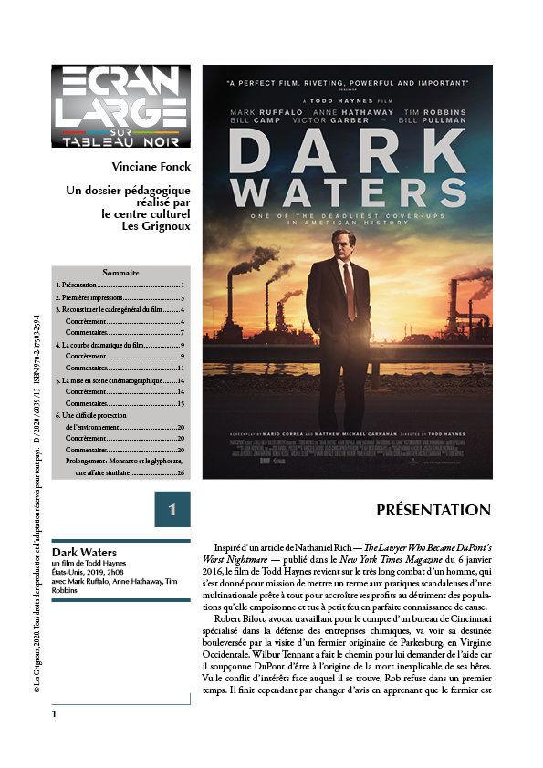 affiche du dossier Dark Waters