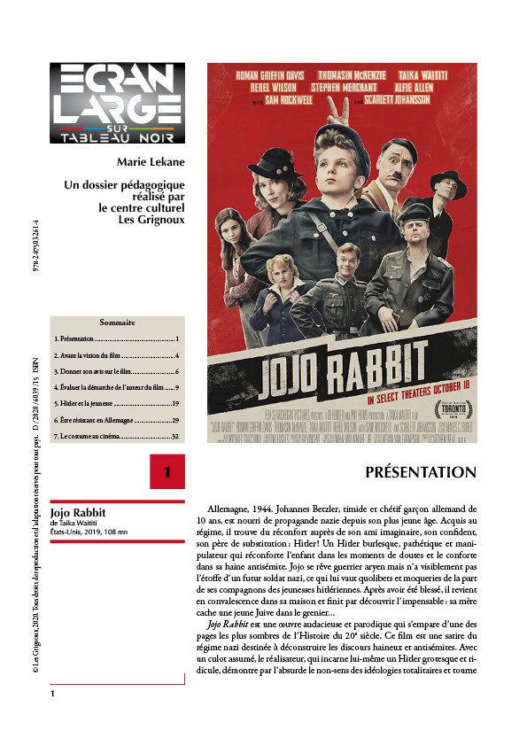 affiche du dossier Jojo Rabbit