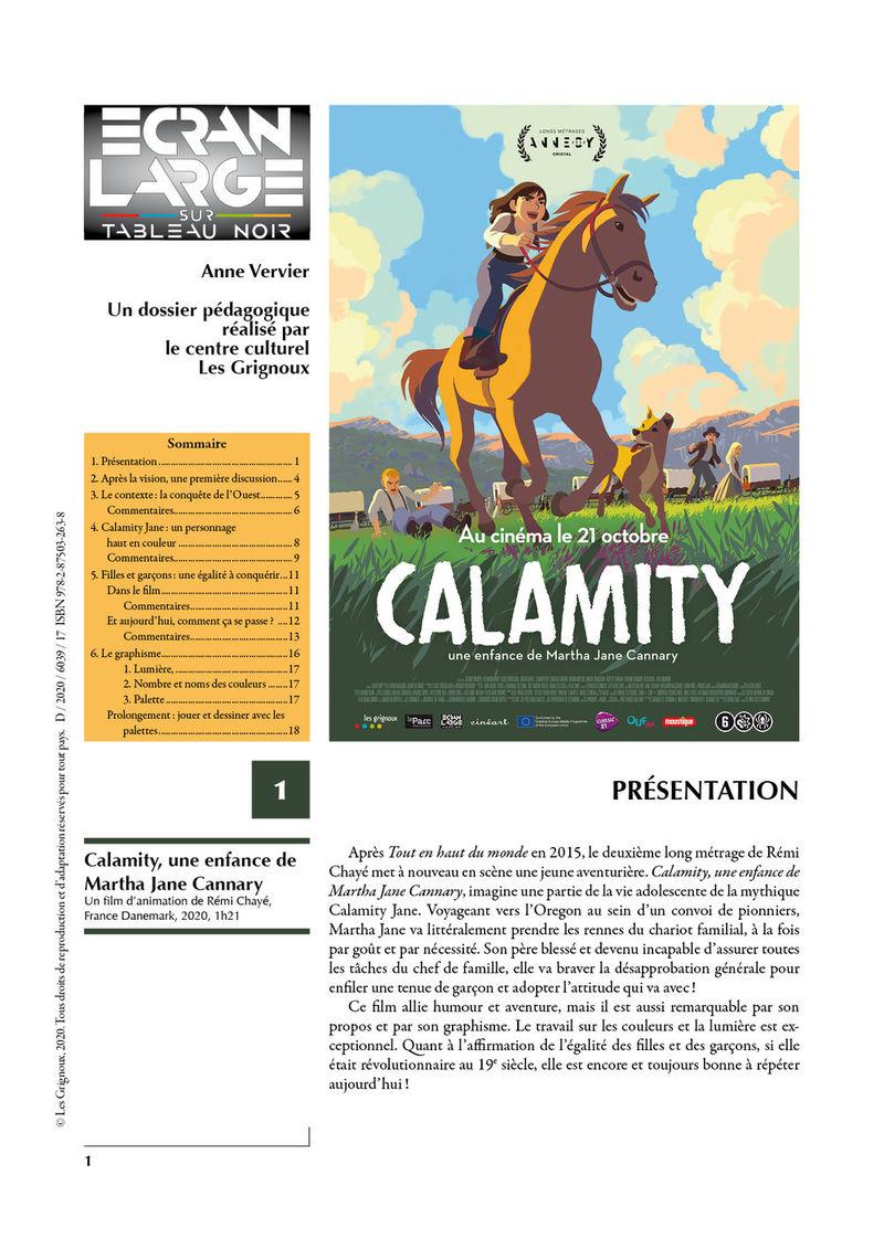 affiche du dossier Calamity, une enfance de Martha Jane Cannary
