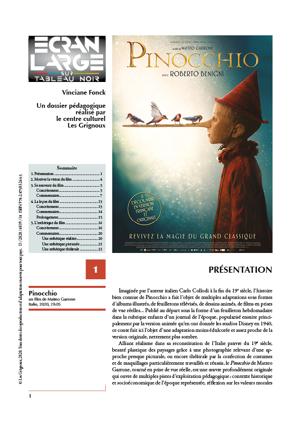 affiche du dossier Pinocchio