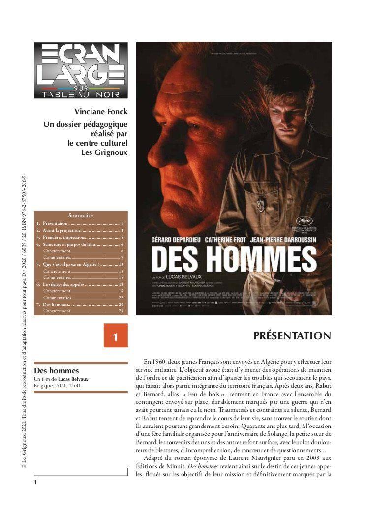 affiche du dossier Des hommes