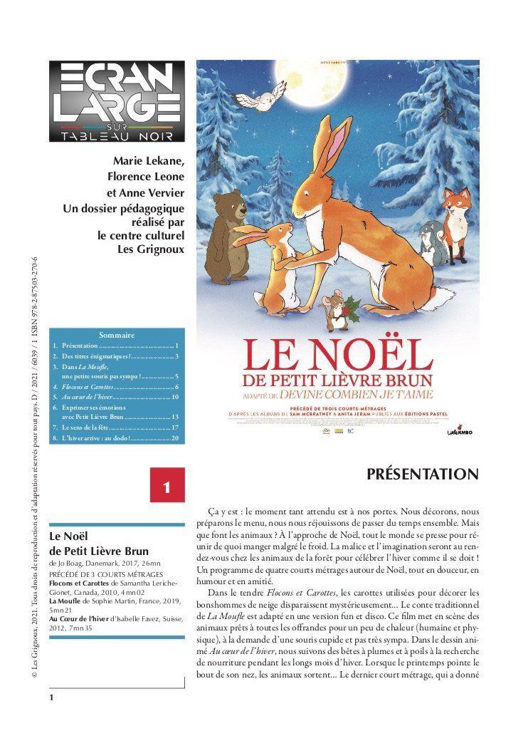 affiche du dossier Le Noël de petit lièvre brun