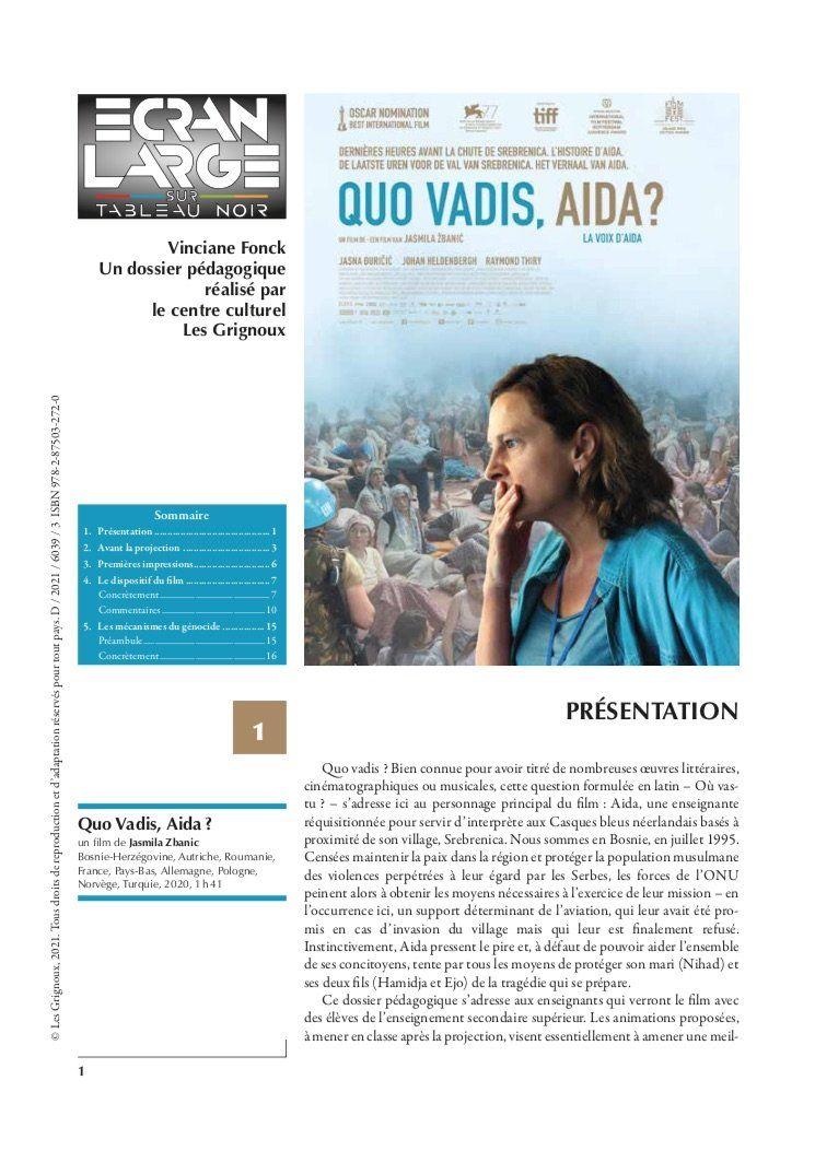 affiche du dossier Quo Vadis, Aïda?