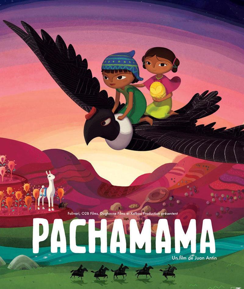 affiche du film Expo sur Pachamama et le thème du carnaval
