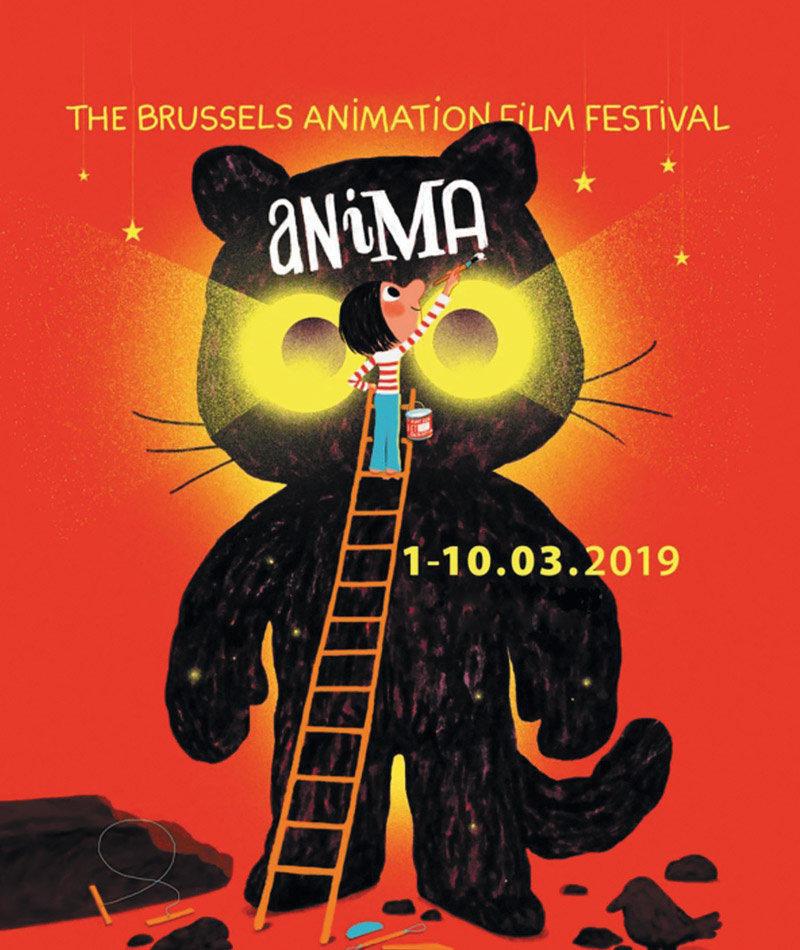 affiche du film Créations inspirées de l'affiche du Festival Anima
