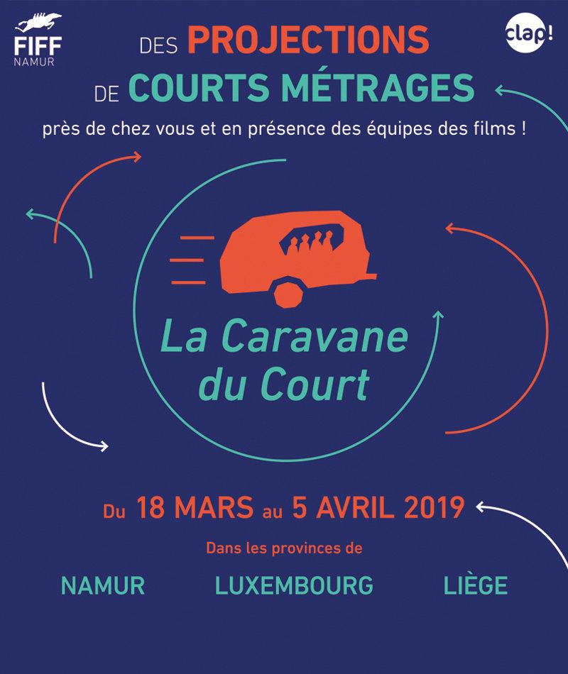affiche du film La Caravane du Court à Liège