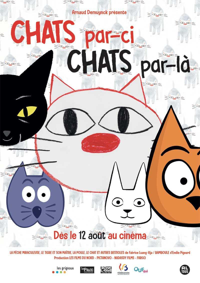 affiche du film Ciné-conte Chats par-ci, chats par-là