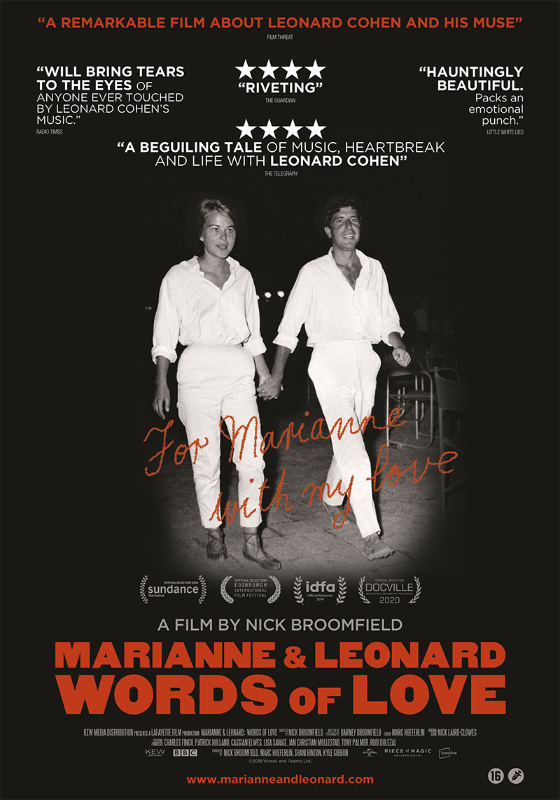 affiche du film Marianne & Leonard : words of love