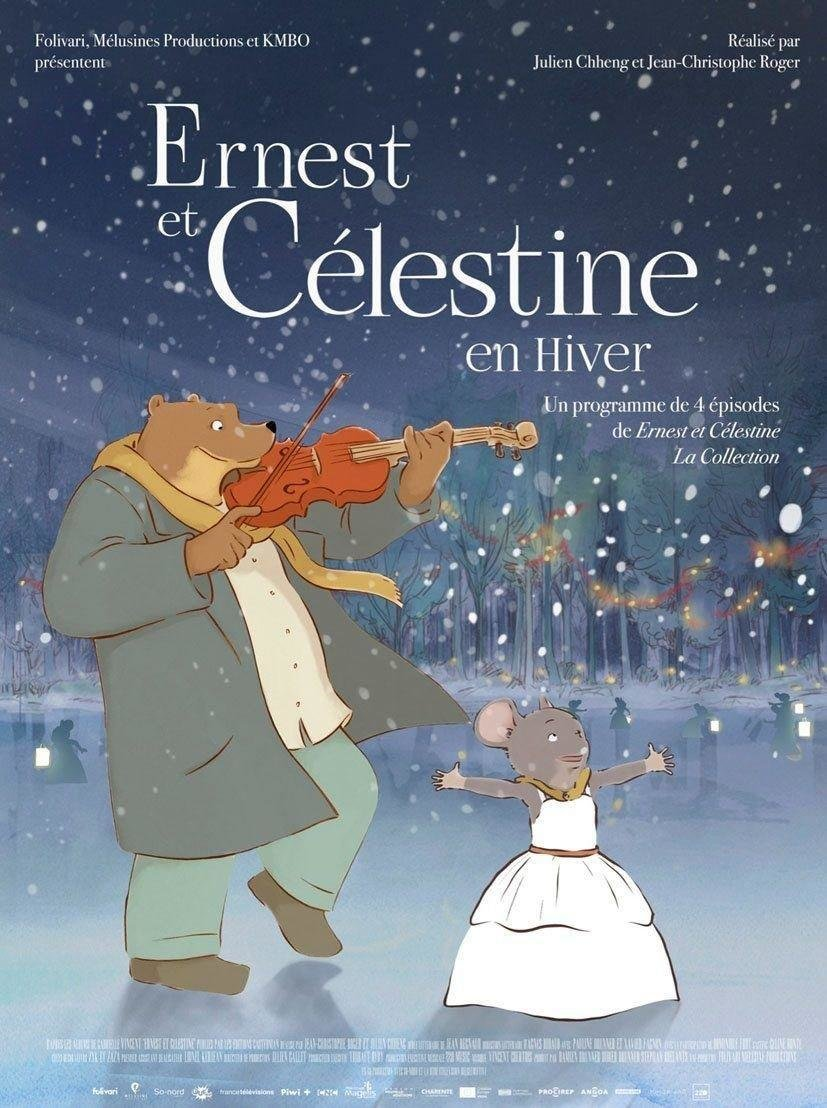 affiche du film Ernest et Célestine en hiver