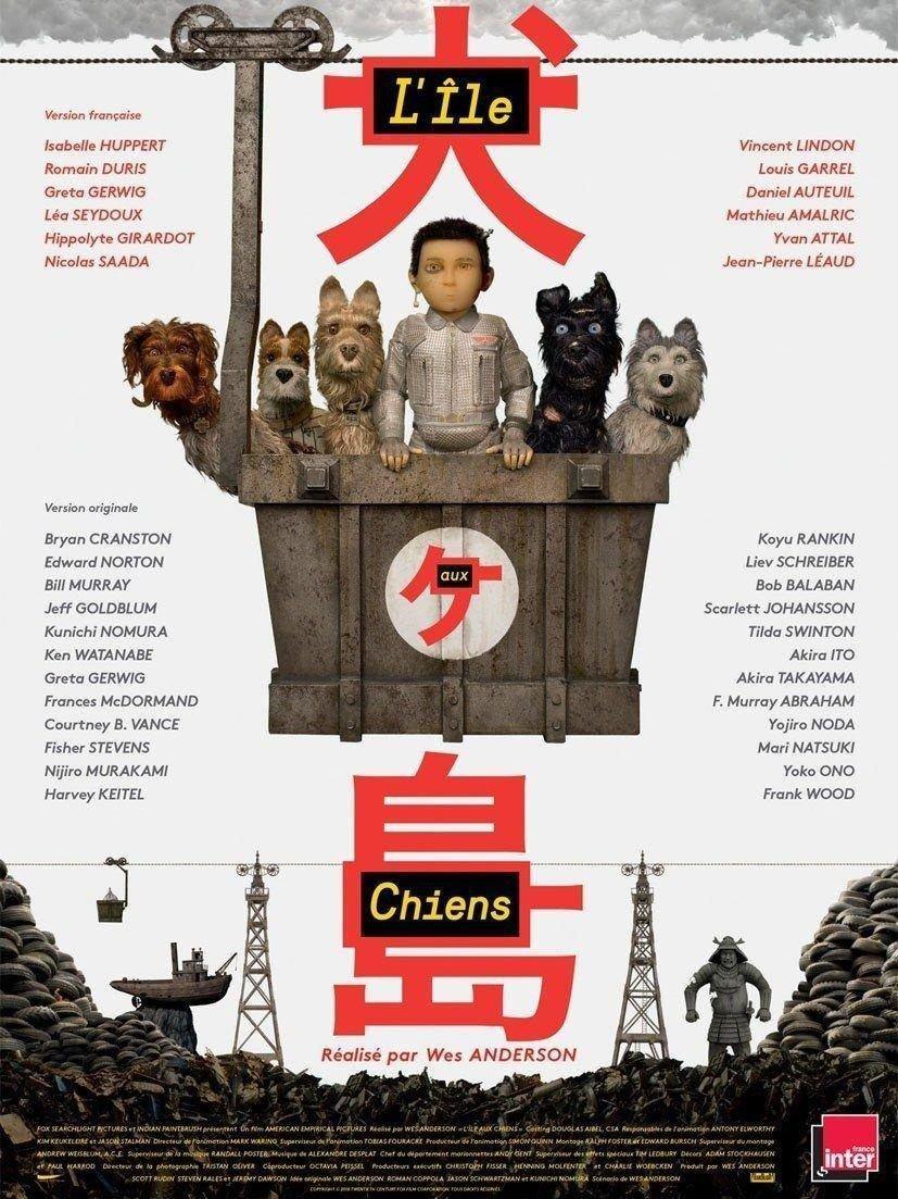 affiche du film L'île aux chiens
