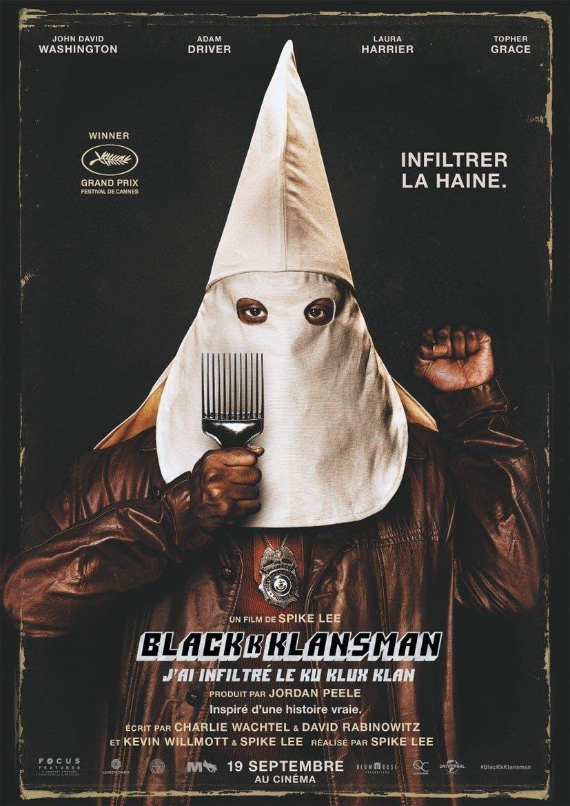 affiche du film BlacKkKlansman - J'ai infiltré le Ku Klux Klan