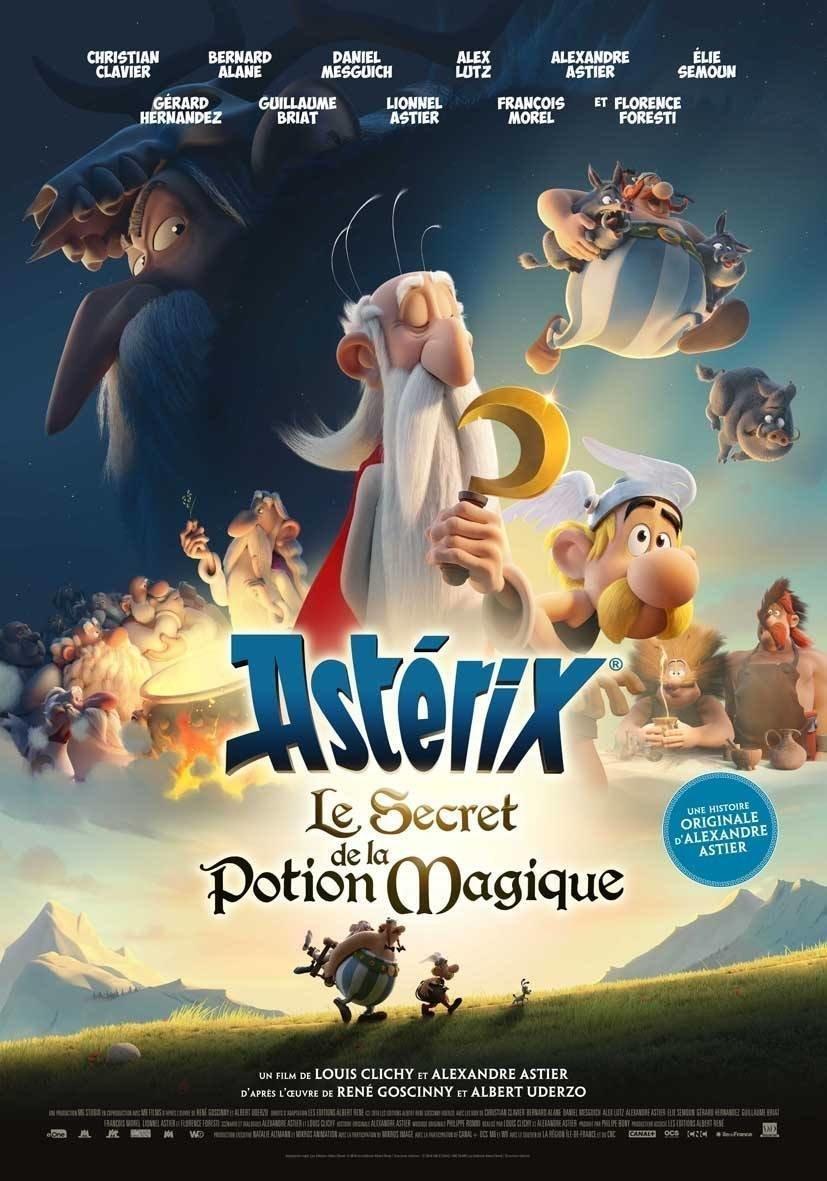 affiche du film Astérix : le secret de la potion magique