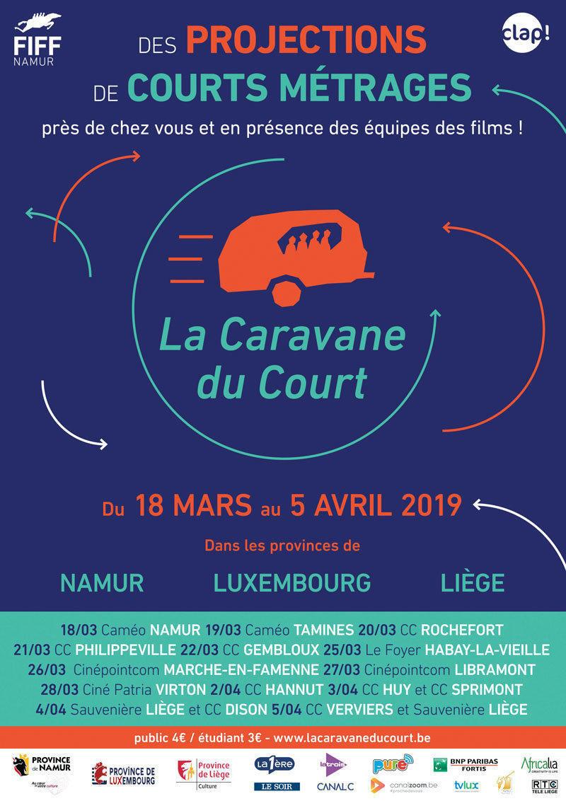 affiche du film La caravane du court Liège