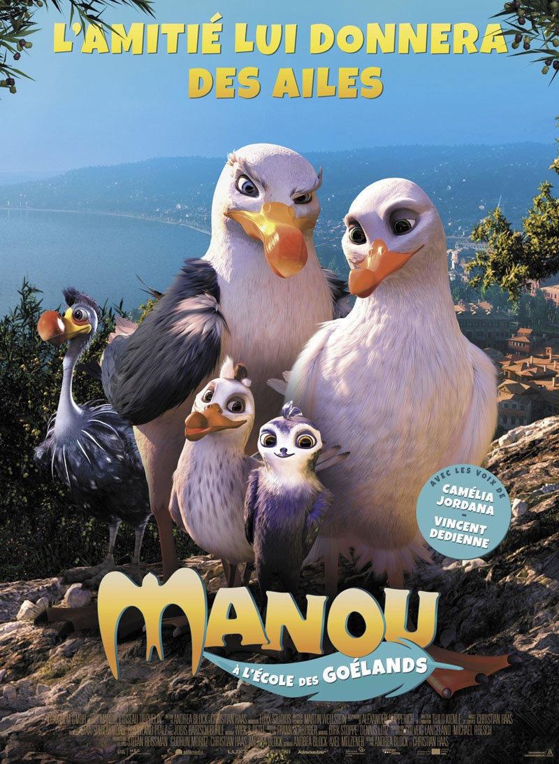affiche du film Manou à l'école des goélands