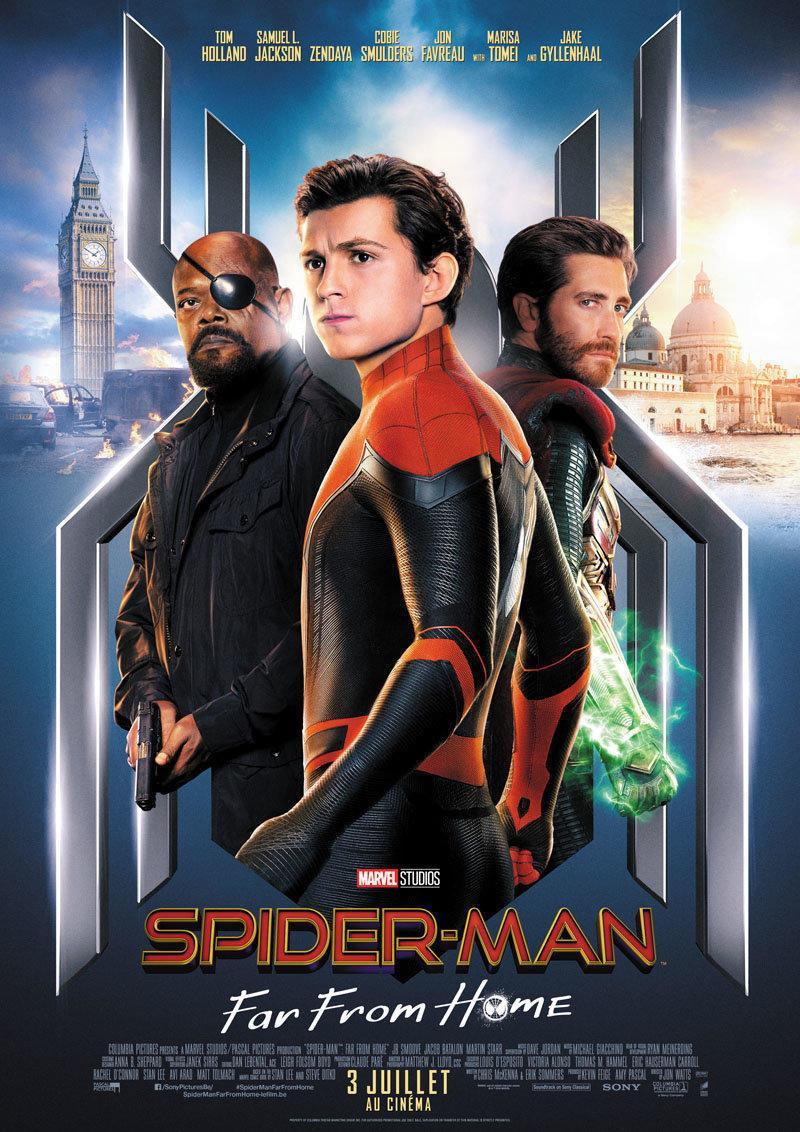 affiche du film Spiderman : far from home