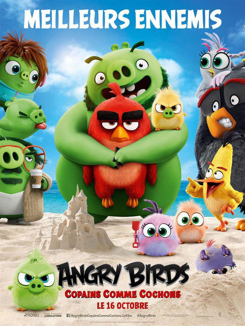 affiche du film Angry birds 2 : copains comme cochons