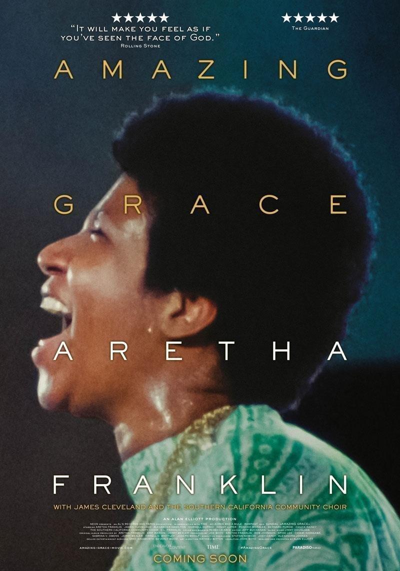 affiche du film Amazing grace – Aretha Franklin