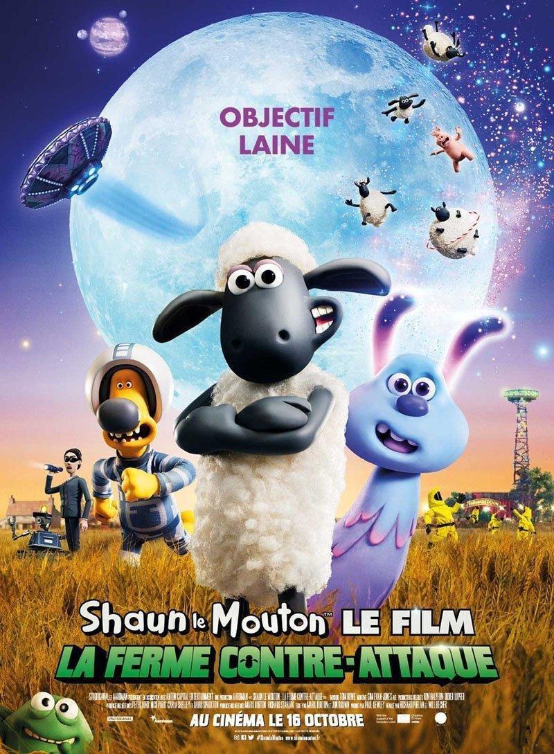 affiche du film Shaun le mouton 2 : la ferme contre-attaque