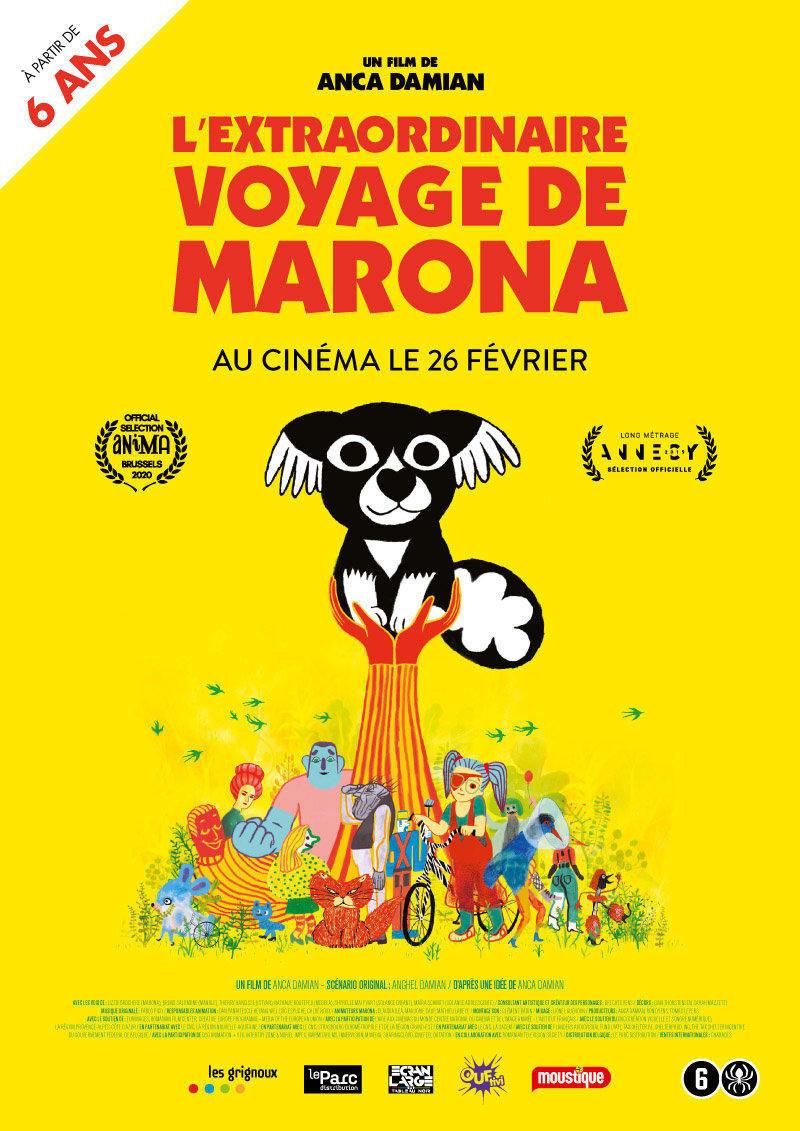 affiche du film L'extraordinaire voyage de Marona